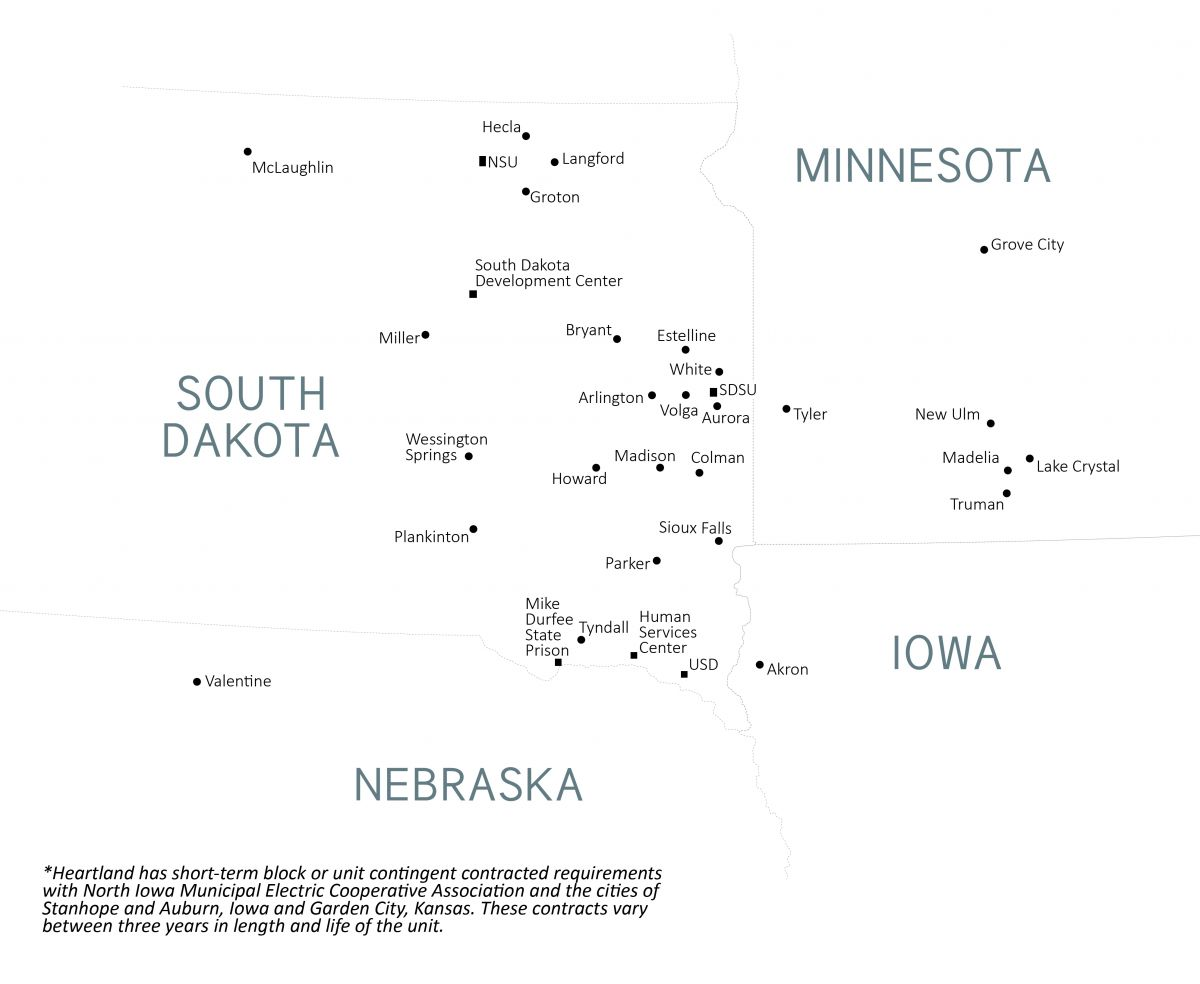 Heartland Customer Map